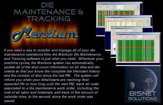 Mentium - Die Maintenance and Tracking